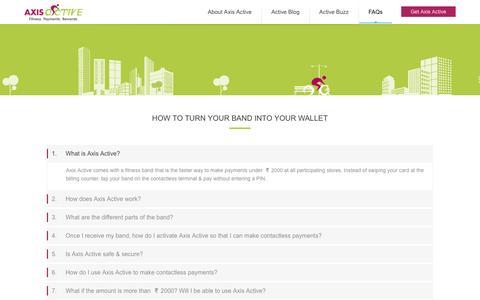 Screenshot of FAQ Page axisbank.com - Axis Active - FAQs - captured Jan. 2, 2017