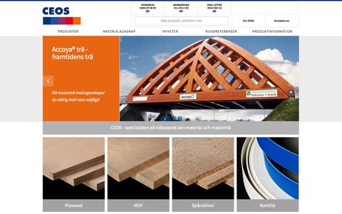 Screenshot of Home Page ceos.se - CEOS - Start - captured Sept. 26, 2014