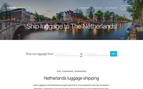 Ship Luggage to the Netherlands - Guaranteed by Luggage Forward®
