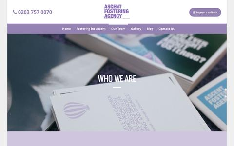 Screenshot of Team Page ascentfostering.com - Meet the Team | Ascent Fostering Agency London - captured Feb. 6, 2016
