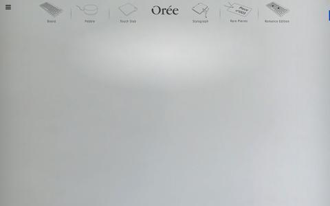 Screenshot of Home Page oreeartisans.com - Oree | Artisans of emotional technology - captured Jan. 1, 2016