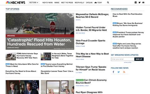 NBC News - Breaking News & Top Stories - Latest World, US & Local News
