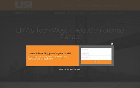 Screenshot of Blog legalisi.com - LISI Digital Marketing Blog - captured Nov. 10, 2019