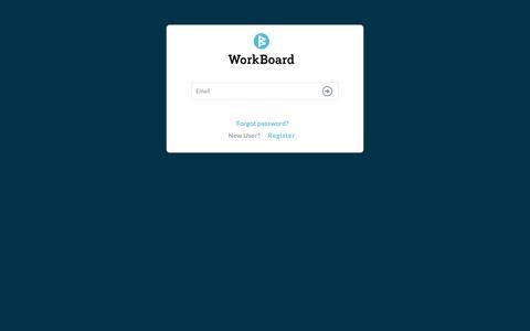 Screenshot of Login Page myworkboard.com - Workboard - Login - captured July 19, 2019