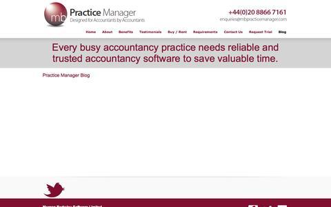 Screenshot of Blog mbpracticemanager.com - Blog   MB Practice Manager - captured Sept. 30, 2014