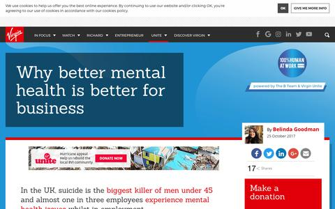 Why better mental health is better for business | Virgin