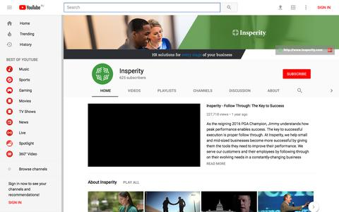 Insperity - YouTube - YouTube