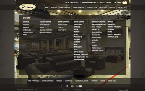 Screenshot of Site Map Page durian.in - Durian - captured Sept. 19, 2014