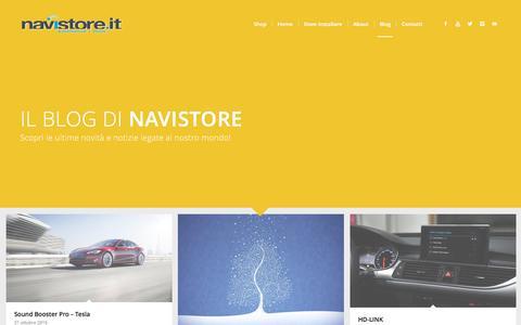 Screenshot of Blog navistore.it - Blog - NaviStore - captured Nov. 29, 2016