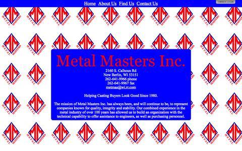 Screenshot of Home Page metalmastersinc.net - Metal Masters Inc. - captured Oct. 1, 2014