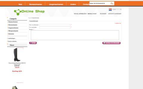 Screenshot of Contact Page debedelaar.nl - Contactinformatie : 2016 Schoenen verkopen goedkope online - Nederland - captured Dec. 2, 2016