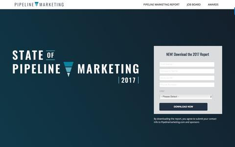 Screenshot of Home Page pipelinemarketing.com - The State of Pipeline Marketing - Pipeline Marketing - captured Nov. 25, 2017