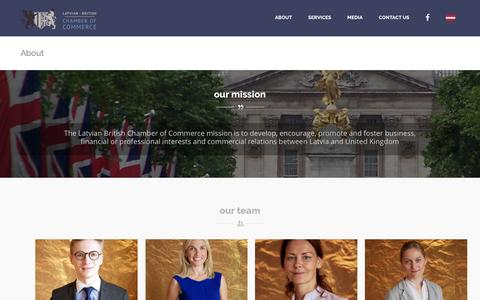 Screenshot of About Page Team Page latvianchamber.co.uk - About - Latvian British Chamber of Commerce in the UK - captured Feb. 15, 2016