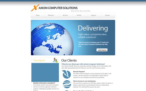 Screenshot of Support Page axiomcomputersolutions.com - Axiom Computer Solutions - captured Sept. 30, 2014