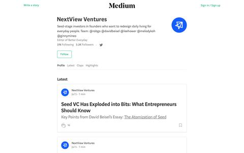 NextView Ventures – Medium