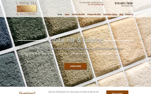 Screenshot of Home Page capitaltileandflooring.com - Flooring Raleigh NC | Design & Installation by Capital Tile & Flooring - captured Jan. 25, 2016