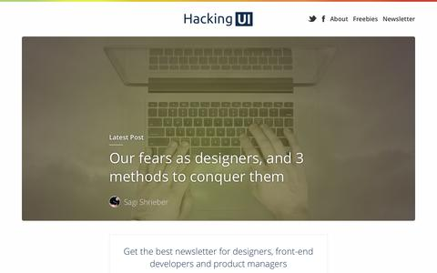 HackingUI | Product Design & Frontend Development Newsletter & Magazine