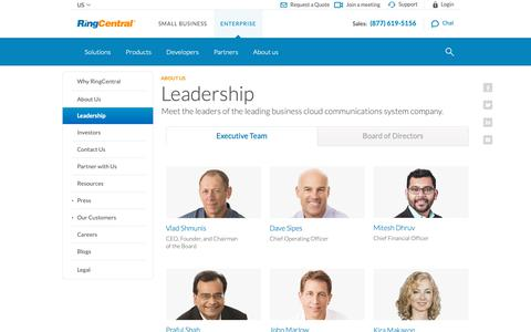 Screenshot of Team Page ringcentral.com - Meet our executive team | RingCentral - captured March 14, 2019