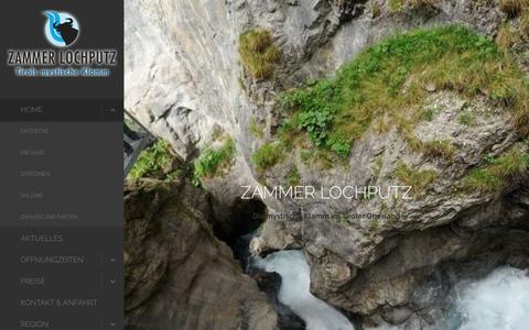 Screenshot of Home Page zammer-lochputz.at - Home - ZAMMER LOCHPUTZ - captured June 2, 2016