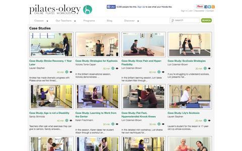 Screenshot of Case Studies Page pilatesology.com - Case Studies | pilatesology - captured Sept. 19, 2014