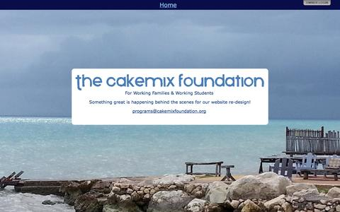 Screenshot of Home Page cakemixfoundation.org - The Cakemix Foundation - captured Oct. 7, 2014