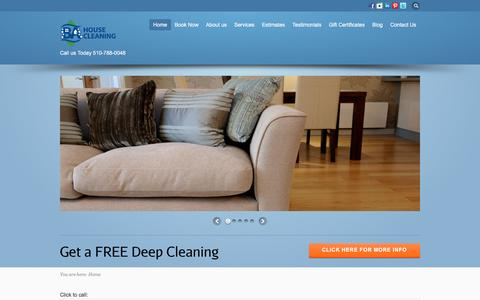 Screenshot of Home Page bahousecleaning.com - Home Đ BA House Cleaning, Maid Services, Office Cleaning Oakland - captured Dec. 13, 2015