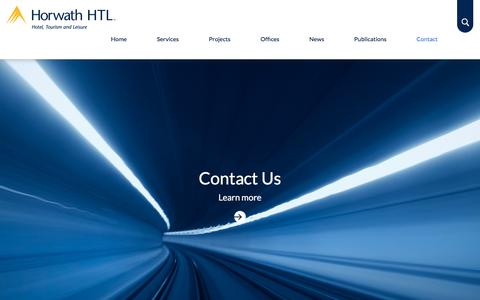 Screenshot of Contact Page horwathhtl.com - Contact - Horwath HTL Corporate - captured July 22, 2018