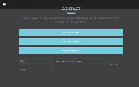 Screenshot of Contact Page klck.nl - Contact | KLCK. - captured Sept. 30, 2014