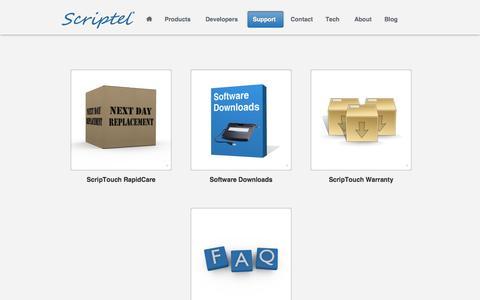 Screenshot of Support Page scriptel.com - Support - Scriptel Corporation - captured Sept. 30, 2014