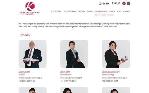 Screenshot of Team Page andreaskopp.ch - Team   Andreas Kopp AG - captured Nov. 12, 2018