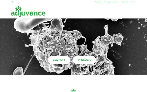 Screenshot of Home Page adjuvancetechnologies.com - Adjuvance Technologies – Empowering health. - captured Nov. 20, 2016