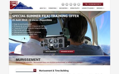 Screenshot of Pricing Page aeropyrenees.com - Murissement | Formations aéronautiques AéroPyrénées – Formations de Pilote de ligne / Instructeur / Pilote Privé - captured Oct. 1, 2014
