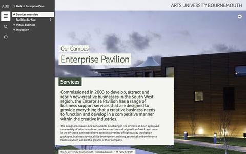 Screenshot of Services Page aub.ac.uk - Services - Arts University Bournemouth - captured Sept. 19, 2014