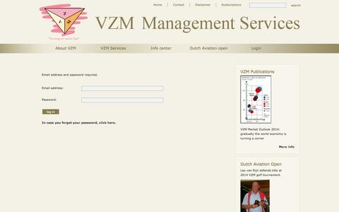 Screenshot of Login Page vzm.net - Login - VZM - captured Oct. 6, 2014