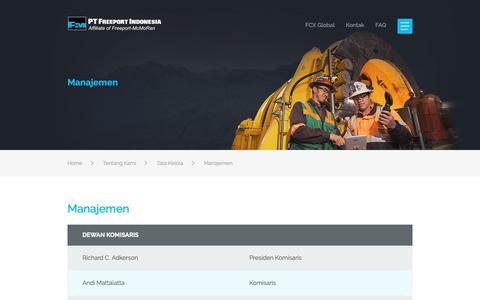 Screenshot of Team Page ptfi.co.id - PT Freeport Indonesia - captured Nov. 14, 2018