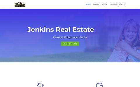 Screenshot of Home Page jenkins-homes.com - Home • Jenkins Real Estate - captured Nov. 1, 2018