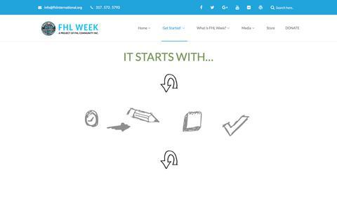 Screenshot of Signup Page fhlinternational.info - Get Started! – FHL Week - captured Feb. 8, 2018