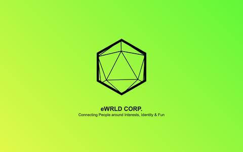 Screenshot of Home Page ewrld.com - eWrld Corp. - captured Sept. 30, 2018