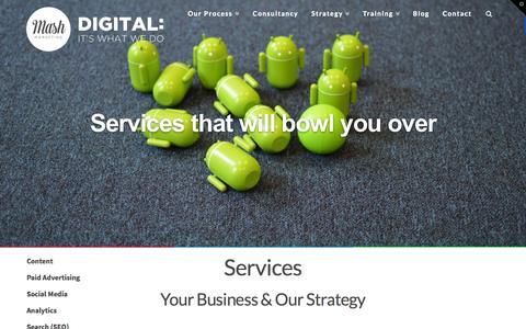 Screenshot of Services Page mash-marketing.com - Digital Marketing Edinburgh - Digital Services - Mash - captured Aug. 2, 2015