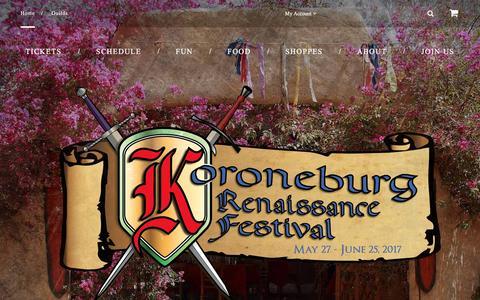 Screenshot of Home Page renfestcorona.com - Koroneburg Renaissance Festival | - captured April 4, 2017