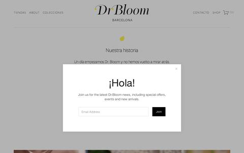 Screenshot of About Page drbloom.es - About — Dr.Bloom - captured Aug. 7, 2018