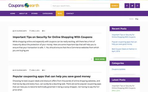 Screenshot of Press Page couponsearth.com - Blog – CouponsEarth - captured Nov. 16, 2016