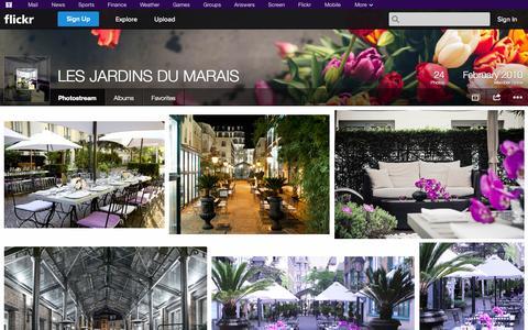 Screenshot of Flickr Page flickr.com - Flickr: LES JARDINS DU MARAIS' Photostream - captured Oct. 22, 2014