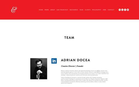 Screenshot of Team Page heraldist.com - Team — Heraldist & Wondermarks - captured July 18, 2018