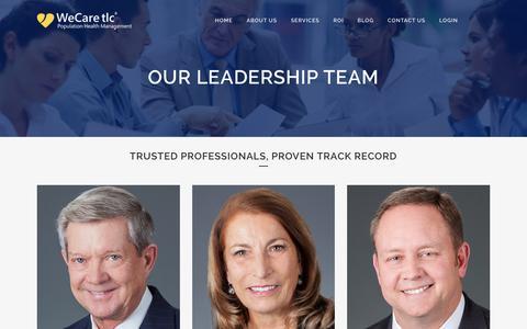 Screenshot of Team Page wecaretlc.com - WeCare TLC |   Our Leadership Team - captured Feb. 5, 2016
