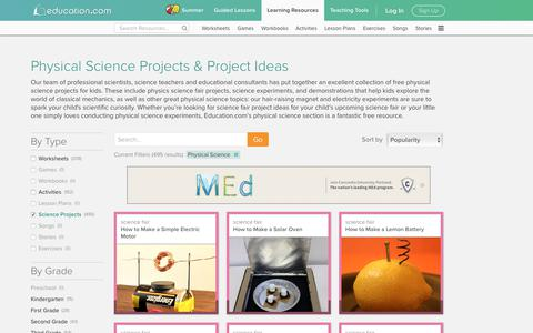 Physical Science Projects & Science Fair Project Ideas | Education.com