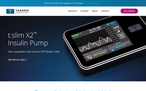 t:slim X2 ™ Insulin Pump w/ Dexcom G5 CGM - Get Started!