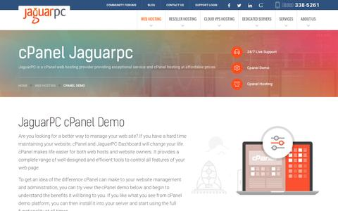 Screenshot of jaguarpc.com - cpanel demo - Jaguarpc - captured Dec. 9, 2016