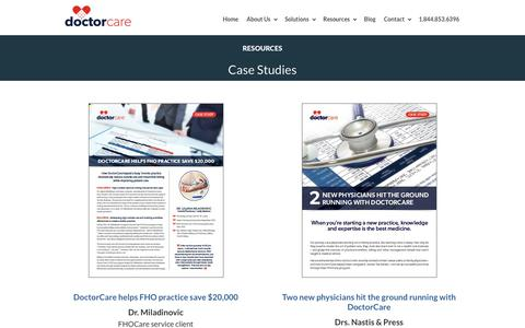 Screenshot of Case Studies Page doctorcare.ca - Case Studies | DoctorCare - captured Dec. 9, 2018