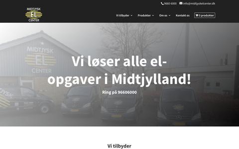 Screenshot of Home Page midtjyskelcenter.dk - Midtjysk El Center - Vi løser alle el-opgaver i Midtjylland - captured Oct. 18, 2018